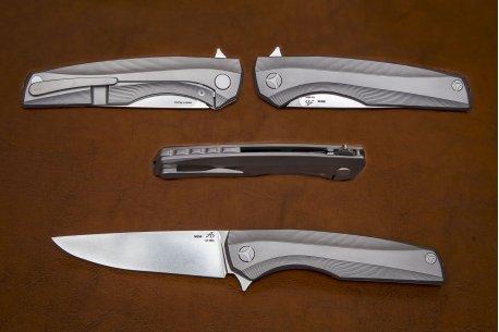 Складной нож M390 №10-1 3D