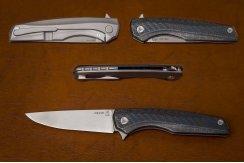 Складной нож S125V №10 3D карбон синий